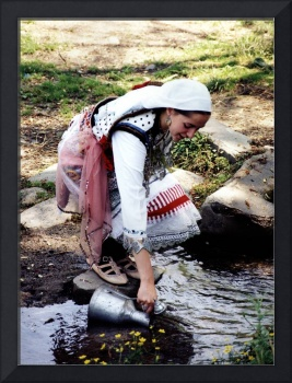 girl in traditional macedonian clothes
