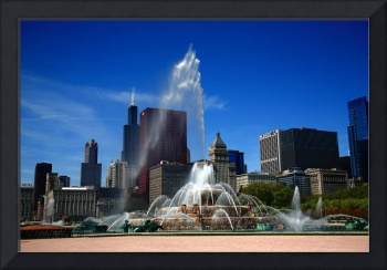 Chicago Skyline and Buckingham Fountain 2010