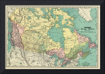 Vintage Map of Canada (1897)