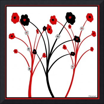 Red and Black Flower Simplicity
