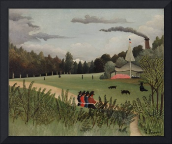 Landscape and Four Young Girls by Rousseau