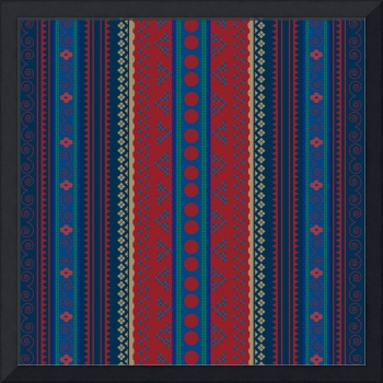 Traditional pattern with repeating geometric shape