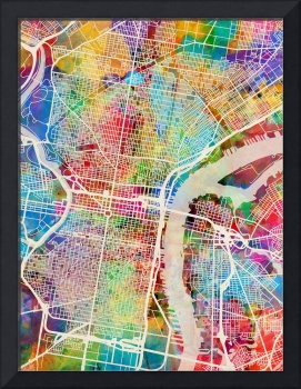 Philadelphia Pennsylvania Street Map