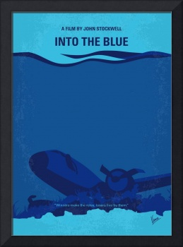 No912 My Into the Blue minimal movie poster