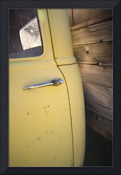 Yellow and Wood Chevy