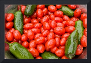 Hot Peppers and Cherry Tomatoes
