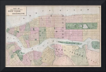 Vintage Map of New York City (1873)