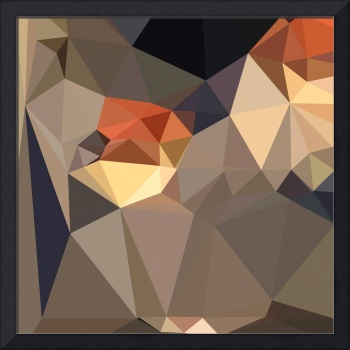 Cool Black Blue Brown Abstract Low Polygon Backgro