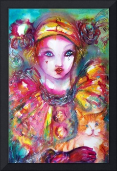 Venetian Masquerade Characters /Pierrot with Cat