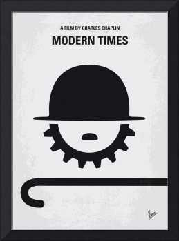 No325 My MODERN TIMES minimal movie poster