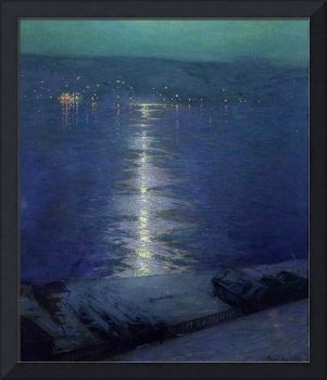 Moonlight on the River by Lowell Birge Harrison