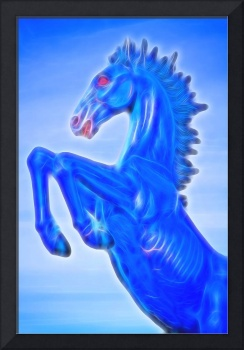 Blucifer The Rearing Blue Mustang Horse