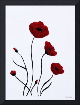 Expressive Abstract Poppies A6116C_e