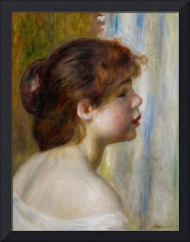 Head of a young woman, late 19th century (oil on c