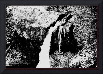 Iron Creek Falls B&W