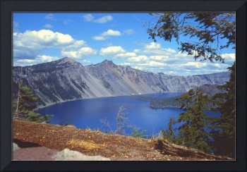 Clouds over Crater Lake 1979