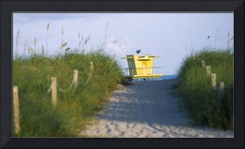 Yellow Lifeguard Station Miami Beach FL