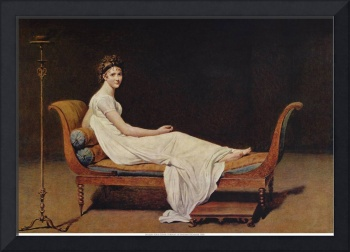 jacques-louis david, Portrait of Madame Récamier,