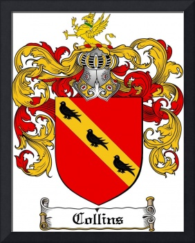 COLLINS FAMILY CREST -  COLLINS COAT OF ARMS
