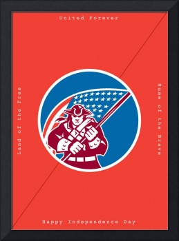 Independence Day Greeting Card-American Patriot Ho