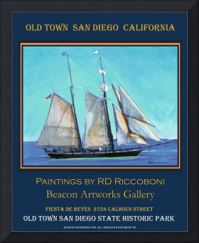 Old Town San Diego Sailing Poster