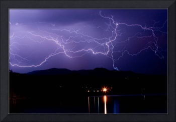 Hot August Lightning Photo