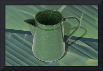 Vintage Green Pitcher