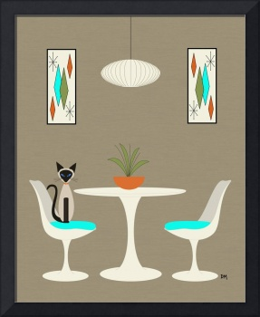 Knoll Table 2 with Siamese