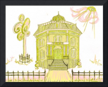 Victorian House in Yellow