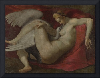 After Michelangelo - Leda and the Swan