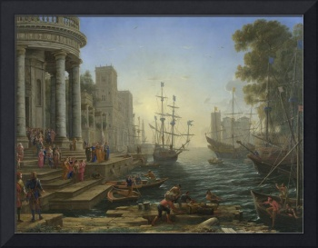Seaport with the Embarkation of Saint Ursula Claud