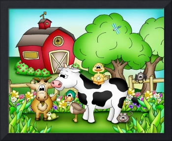 Farm Animals with Cow