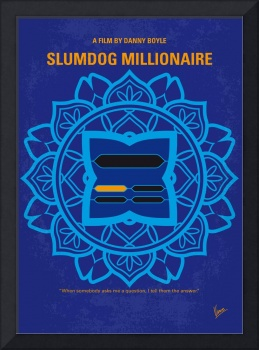 No708 My Slumdog Millionaire minimal movie poster