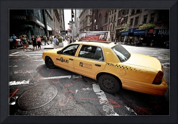 NYC Taxi on Fifth Avenue, New York City, USA