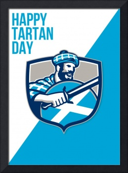 Happy Tartan Day Highlander Greeting Card