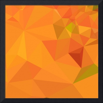 Pumpkin Orange Abstract Low Polygon Background