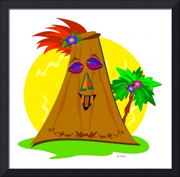 Stylized Tiki with Palm Tree