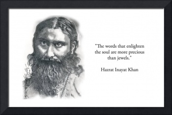 Inspirational Portrait of Hazrat Inayat Khan
