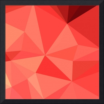 Portland Orange Abstract Low Polygon Background