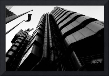 Lloyds building Black and white