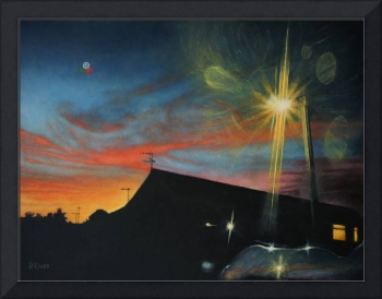 Suburban Sunset Oil on Canvas