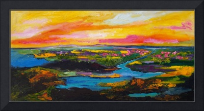 Panoramic Landscape Oil Painting Paradise Valley b