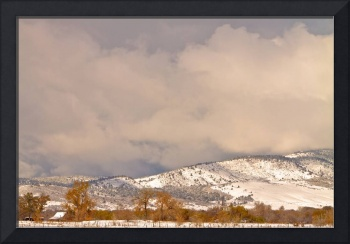 Low Winter Storm Clouds Colorado  Foothills