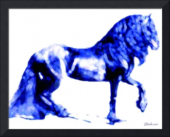 Friesian in Blue