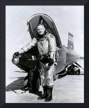 Neil Armstrong with plane