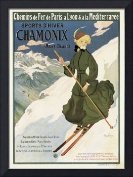 Poster advertising SNCF routes to Chamonix, 1910