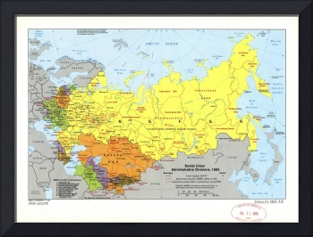 Soviet Union Administrative Divisions Map (1983)