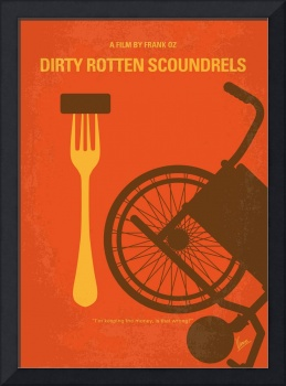 No536 My Dirty Rotten Scoundrels minimal movie pos