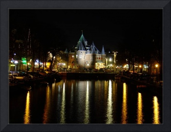 Amsterdam Castle at Night