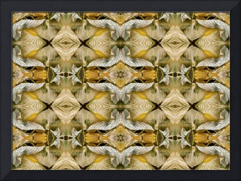 Folded Hosta Leaves Abstraction  (Rectangular)